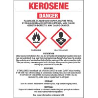 GHS Chemical Labels - Kerosene