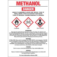 GHS Chemical Labels - Methanol