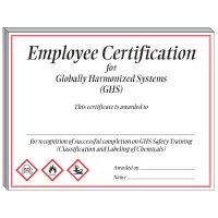 GHS Training Certificate - Employee Certification