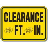 Semi-Custom Giant Clearance & Crane Signs - Clearance