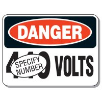 Semi-Custom Giant Electrical Signs - Danger Volts