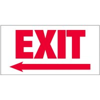 Giant Exit Wall Signs With Left Arrow