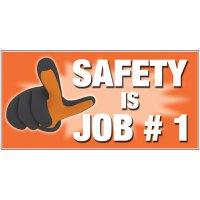 Giant Motivational Wall Graphics - Safety Is Job #1