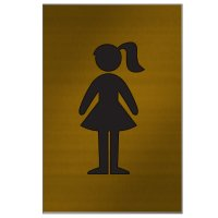 Girl Graphic - Brass And Aluminum Door Signs