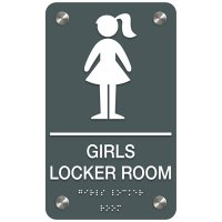 Girls' Locker Room - Premium ADA Facility Signs