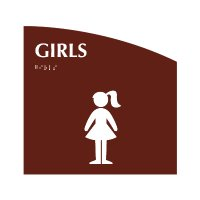 Girls - Evolution Restroom Signs