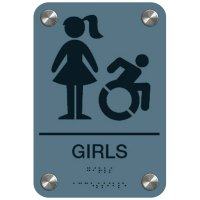 Girls Restroom Sign - Dynamic Accessibility