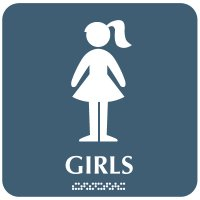 Girls with Graphic - Optima ADA Restroom Signs