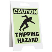 Glow Floor Stands - Caution Tripping Hazard