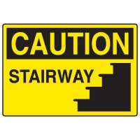 OSHA Caution Signs - Stairway