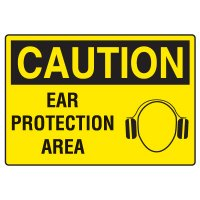 Ear Protection Signs - Caution Ear Protection Area
