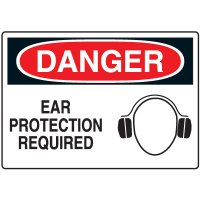 Ear Protection Signs - Danger Ear Protection Required