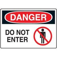 No Admittance Signs - Danger Do Not Enter
