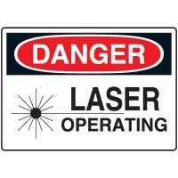 Machine & Operational Signs - Danger Laser Operating