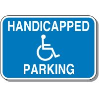 Handicap Signs - Handicapped Parking (Horizontal)
