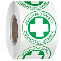 Hard Hat Safety Labels On A Roll - Safety Committee Member