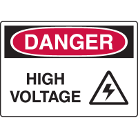 Harsh Condition Safety Signs - High Voltage