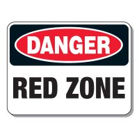 Haulage Signs - Danger Red Zone
