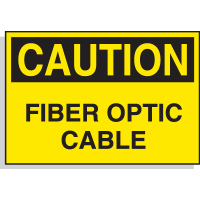 Hazard Warning Labels - Caution Fiber Optic Cable