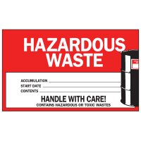 Hazardous Waste Labels - Hazardous Waste