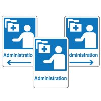 Health Care Facility Wayfinding Signs - Administration