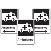 Health Care Facility Wayfinding Signs - Ambulance