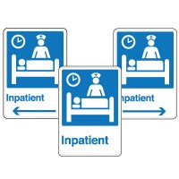 Health Care Facility Wayfinding Signs - Inpatient