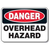 Heavy-Duty Construction Signs - Danger Overhead Hazard