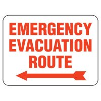 Emergency Evacuation Route Sign - Left Arrow
