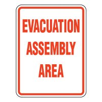 Heavy-Duty Emergency Rescue & Evacuation Signs - Evacuation Assembly Area
