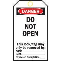 Heavy Duty Lockout Tags - Do Not Open
