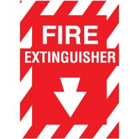 "Fiberglass FIRE EXTINGUISHER Sign - 9""W X 12""H"