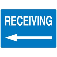High Visibility Overhead Signs - Receiving (w/ Left Arrow Graphic)