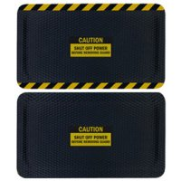 Hog Heaven Safety Message Anti-Fatigue Mats - Caution Shut Off Power