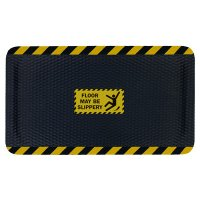 Hog Heaven Safety Message Anti-Fatigue Mats - Floor May Be Slippery