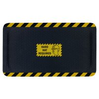 Hog Heaven Safety Message Anti-Fatigue Mats - Hard Hat Required