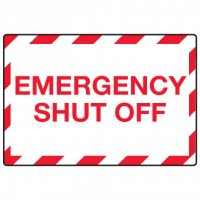 In Case of Emergency Signs - Emergency Shut Off