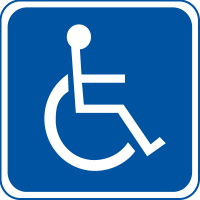Handicap Symbol Signs - Indoor