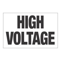 Interactive Sign Insert - High Voltage