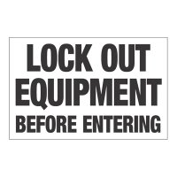 Interactive Sign Insert - Lock Out Equipment