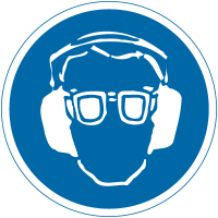 Eye & Ear Protection International Safety Labels