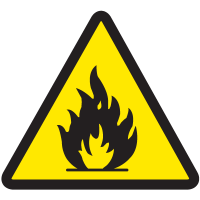 International Warning Labels - Flammable Material