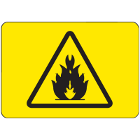 International Symbols Signs - Flammable Material