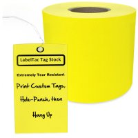 LabelTac® LT101TAG Tear-Resistant Tag Stock - Yellow
