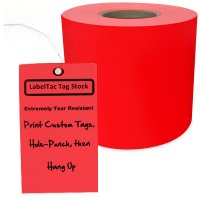LabelTac® LT304TAG Tear-Resistant Tag Stock - Red
