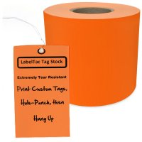 LabelTac® LT306TAG Tear-Resistant Tag Stock - Orange