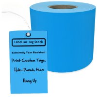 LabelTac® LT307TAG Tear-Resistant Tag Stock - Light Blue