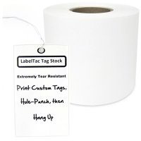 LabelTac® LT402TAG Tear-Resistant Tag Stock - White