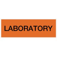 Laboratory - Engraved Standard Worded Signs