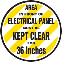 Anti-Slip Floor Markers - Area In Front Of Electrical Panel Must Be Kept Clear
